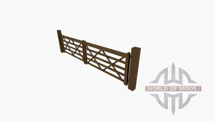Wooden gate for Farming Simulator 2017