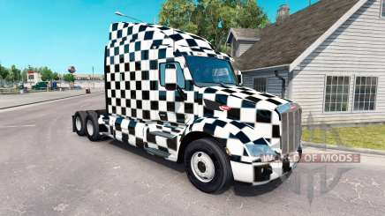 The Checkered skin for the truck Peterbilt for American Truck Simulator