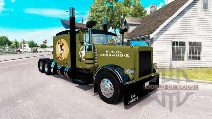 WW2 Style skin for the truck Peterbilt 389 for American Truck Simulator