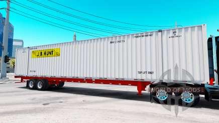 Semitrailer container J. B. Hunt for American Truck Simulator