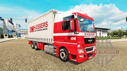 H. Essers skin for MAN TGX truck tractor Tandem for Euro Truck Simulator 2