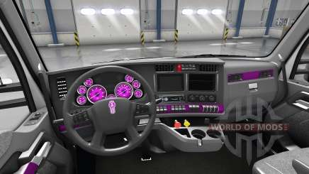 Interior Pink Dial for Kenworth T680 for American Truck Simulator