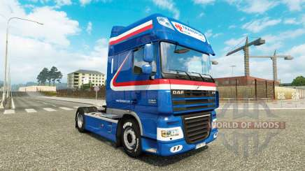 The H. Z. Transport skin for DAF truck for Euro Truck Simulator 2