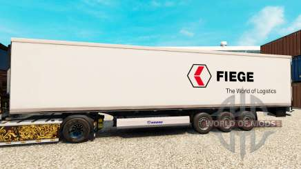 Skin Fiege Logistik for semi-refrigerated for Euro Truck Simulator 2