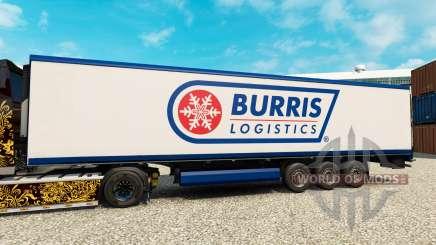 Skin Burris Logistics for semi-refrigerated for Euro Truck Simulator 2