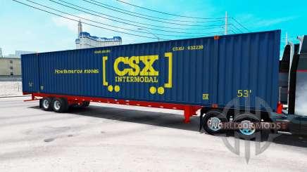 Semitrailer container CSX Intermodal for American Truck Simulator