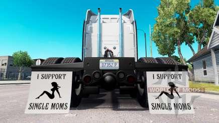 Mudguards I Support Single Moms v1.8 for American Truck Simulator