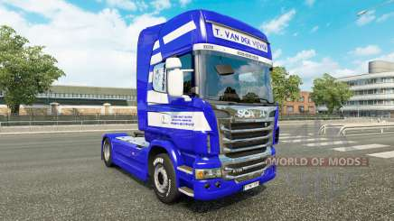 Skin T. van der Vijver on the tractor Scania for Euro Truck Simulator 2