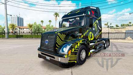 Skin Monster Energy for Volvo truck VNL 670 for American Truck Simulator