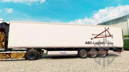 Skin ABC-Logistic for semi-refrigerated for Euro Truck Simulator 2