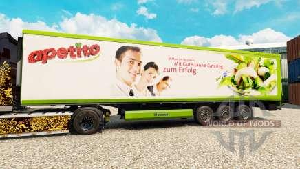 Skin Apetito for semi-refrigerated for Euro Truck Simulator 2