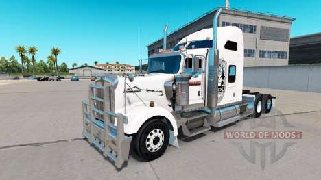 Skin Black Ops v1 on the truck Kenworth W900 for American Truck Simulator