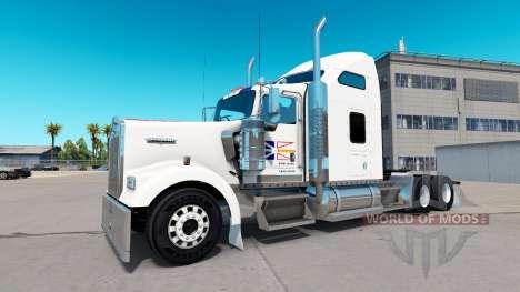 Skin Newfoundland Flag on the truck Kenworth W90 for American Truck Simulator