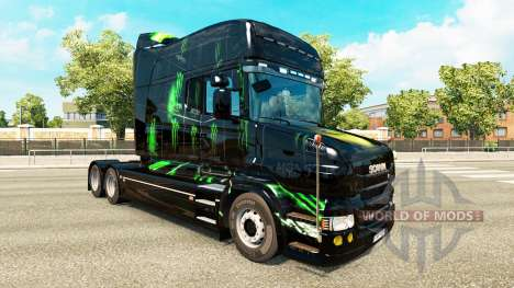 Monster Energy skin for the Scania T tractor uni for Euro Truck Simulator 2