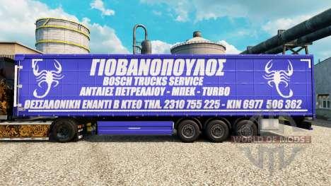 Skin Bosch Service Trucks to trailers for Euro Truck Simulator 2