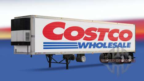 Skin Costco Wholesale on the trailer for American Truck Simulator
