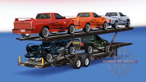 Car Transporter with cars from FlatOut 2 for American Truck Simulator
