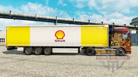 Skin Royal Dutch Shell on semi for Euro Truck Simulator 2