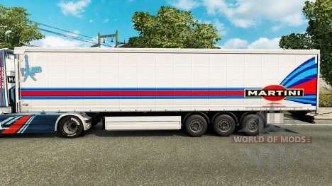 Skin Martini Rancing for trailers for Euro Truck Simulator 2