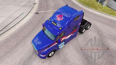 Skin B. T. INC. the tractor Peterbilt 387 for American Truck Simulator