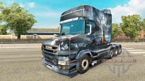 Dragon v2 skin for truck Scania T for Euro Truck Simulator 2