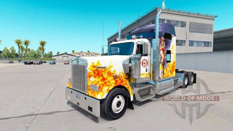 The skin of the Firefighter on the truck Kenwort for American Truck Simulator
