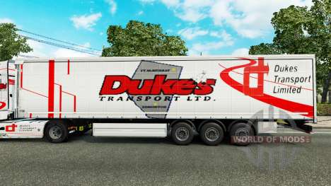 Dukes Transport skin for trailers for Euro Truck Simulator 2