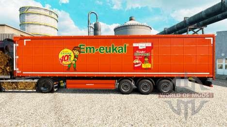 Skin Kinder Em-eukal on semi for Euro Truck Simulator 2