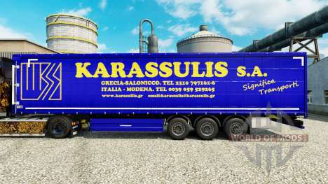 Skin Karassulis S. A. on semi-trailers for Euro Truck Simulator 2