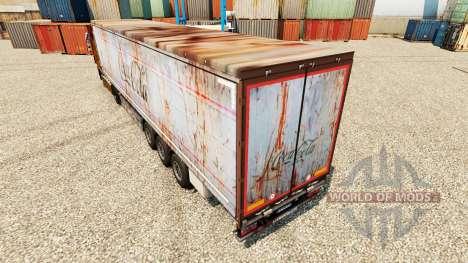 Skin Coca-Cola on rusty trailers for Euro Truck Simulator 2