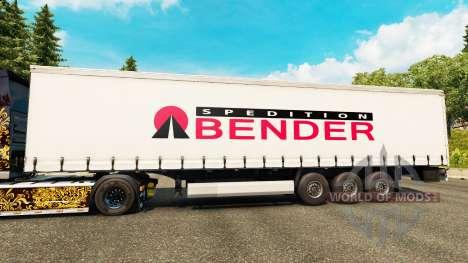 Skin Spedition Bender on semi for Euro Truck Simulator 2