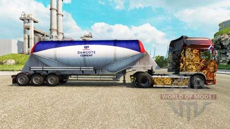 Skin Dangote Cement cement semi-trailer for Euro Truck Simulator 2