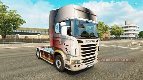 Skin World Cup 2014 on tractor Scania for Euro Truck Simulator 2