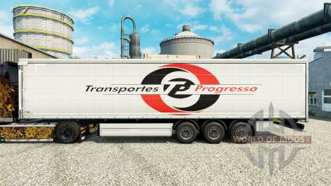 Skin Transportes Progresso on semi for Euro Truck Simulator 2