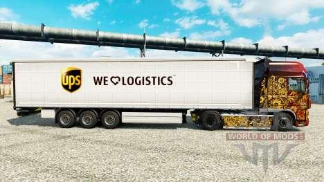 Skin UPS Logistics for trailers for Euro Truck Simulator 2