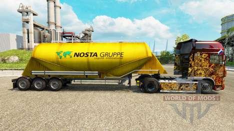 Skin Nosta Gruppe, cement semi-trailer for Euro Truck Simulator 2