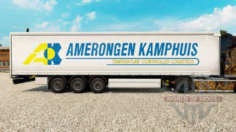 Skin Amerongen Kamphuis on a curtain semi-traile for Euro Truck Simulator 2