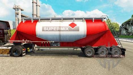 Skin Supermix cement semi-trailer for Euro Truck Simulator 2