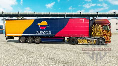 Skin Repsol for trailers for Euro Truck Simulator 2