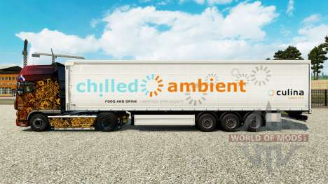 Skin Chilled Ambient on a curtain semi-trailer for Euro Truck Simulator 2
