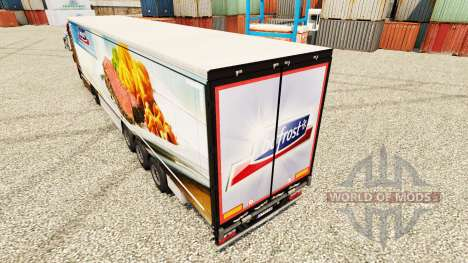 Bofrost skin for trailers for Euro Truck Simulator 2