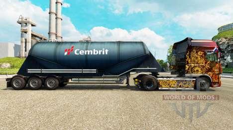 Skin Cembrit cement semi-trailer for Euro Truck Simulator 2