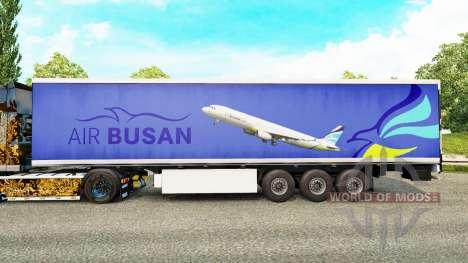 Skin Air Busan to trailers for Euro Truck Simulator 2