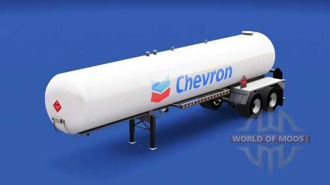 Skin Chevron in the gas tank semi-trailer for American Truck Simulator