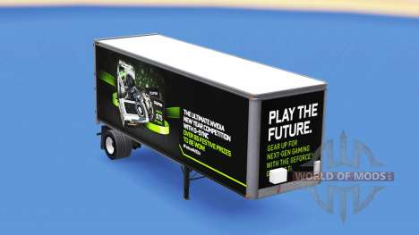 Skin NVidia GTX 980 Ti on the trailer for American Truck Simulator