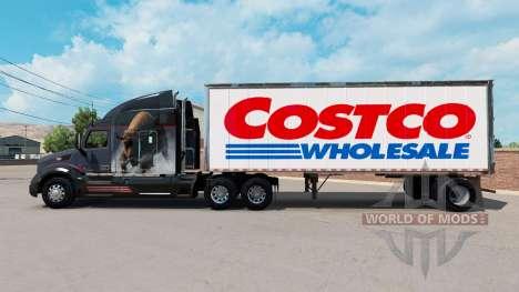 Skin Costco Wholesale on a small trailer for American Truck Simulator
