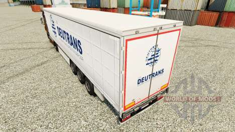 Skin on semi Deutrans for Euro Truck Simulator 2
