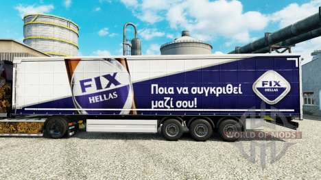 Skin Fix Hellas on semi for Euro Truck Simulator 2