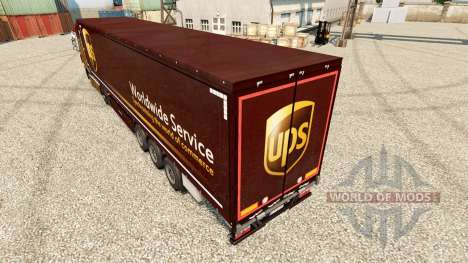 Skin United Parcel Service for trailers for Euro Truck Simulator 2