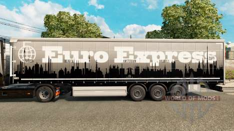 Euro Express skin for trailers for Euro Truck Simulator 2